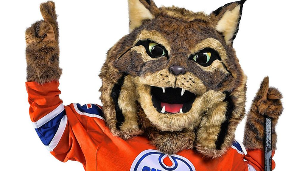 Oilers Introduce Hunter The Canadian Lynx Mascot