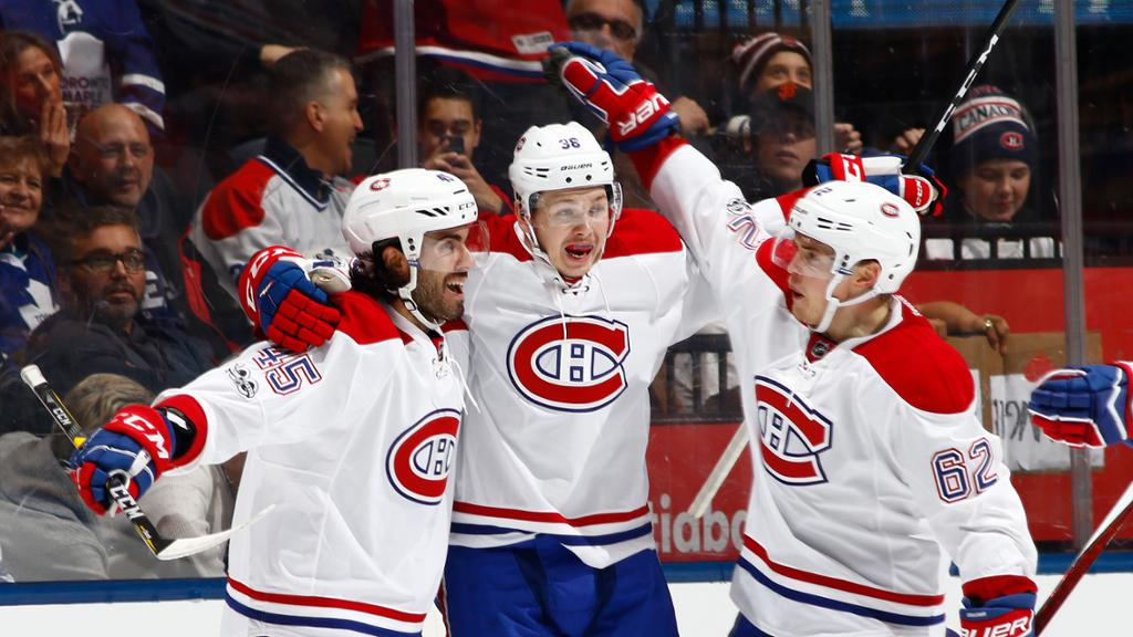 Five Canadiens Score In Win Against Maple Leafs