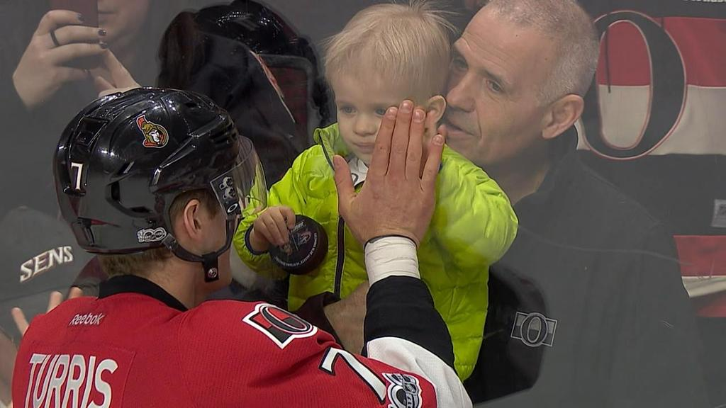 Kyle Turris Celebrates 500th Game With Biggest Fan