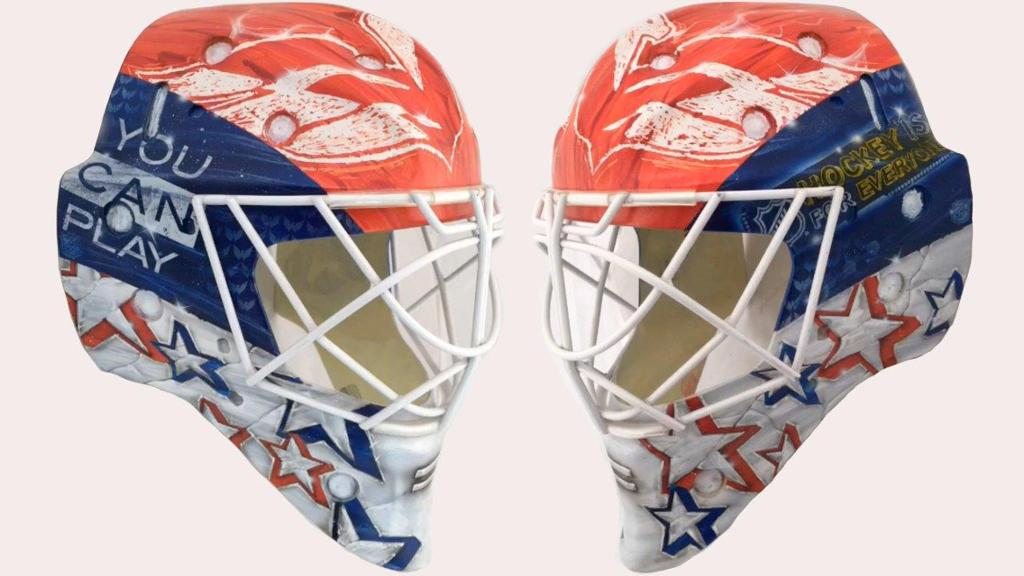 Braden Holtby S Mask To Support You Can Play Project