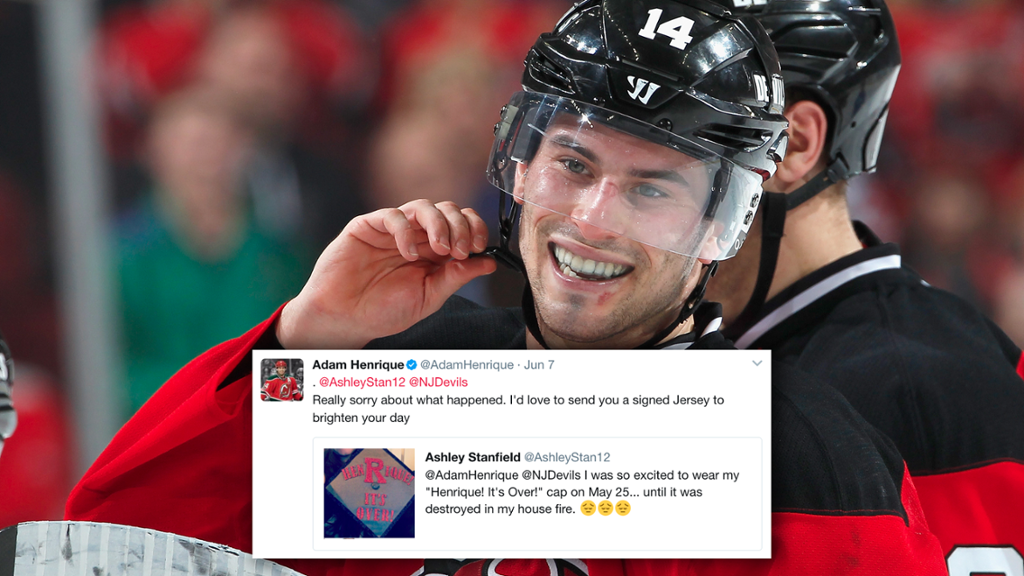 Good guy Adam Henrique reaches out to Devils fan after house fire