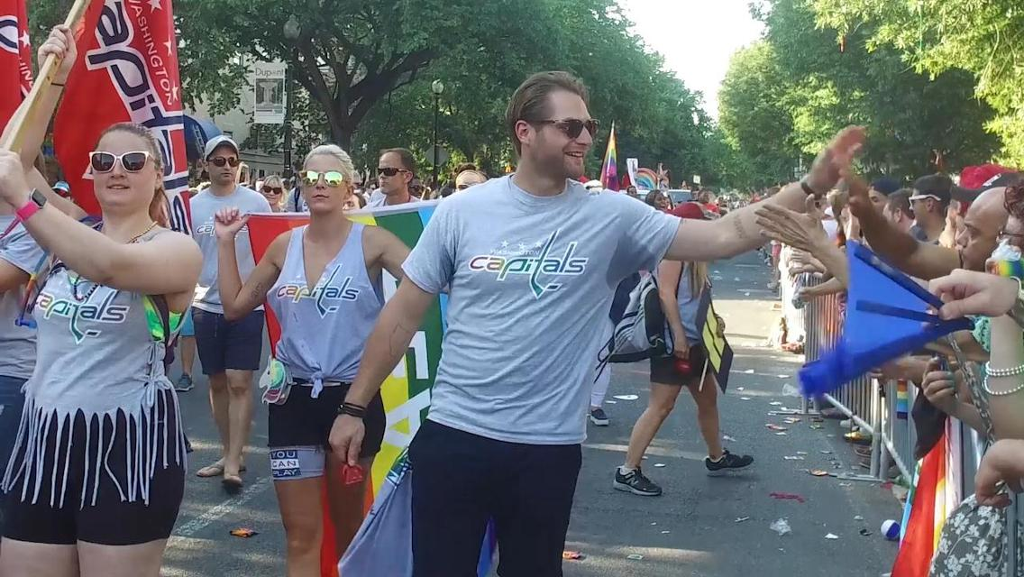 Braden Holtby At The 2017 Capital Pride Parade