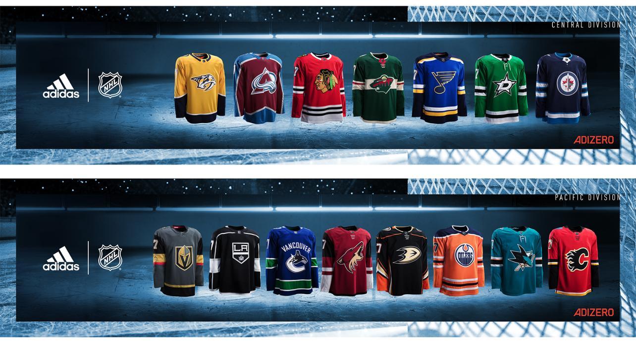 NHL, adidas unveil uniforms