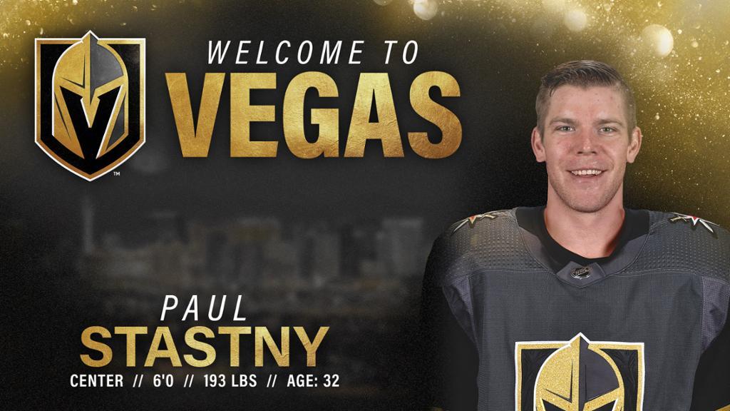Vegas Golden Knights Sign Forward Paul Stastny