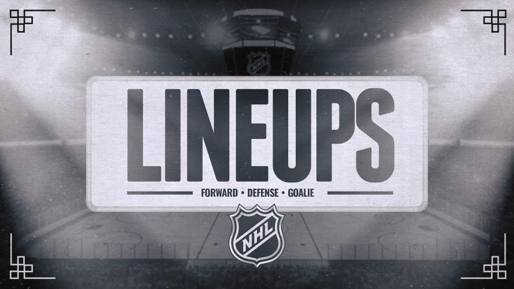 Projected lineups, starting goalies for today
