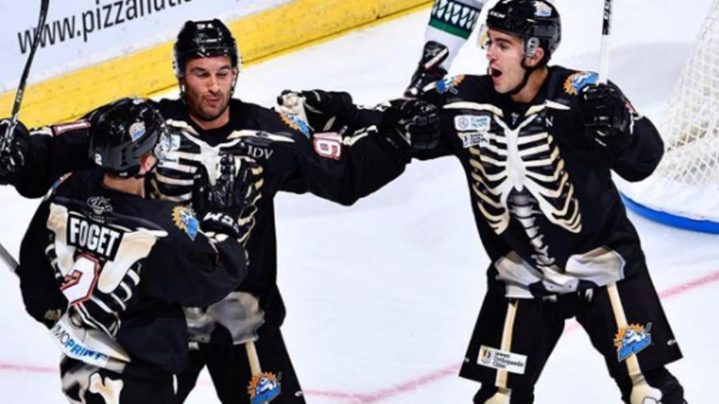 Nhl Bruins Costumes , Halloween Skeletons 2020 ECHL team celebrates Halloween with spooky skeleton uniforms