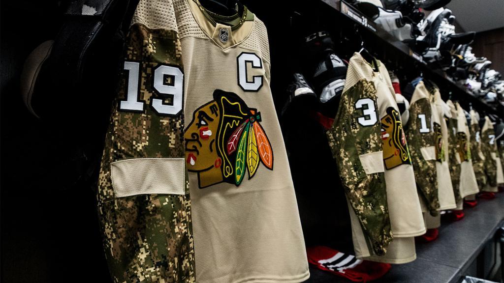 chicago blackhawks military jersey