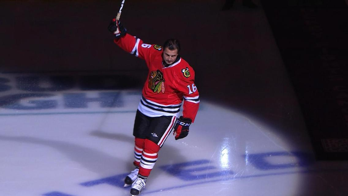 Blackhawks Honor Eddie Olczyk With One More Shift On Hockey Fights Cancer Night Second City Hockey