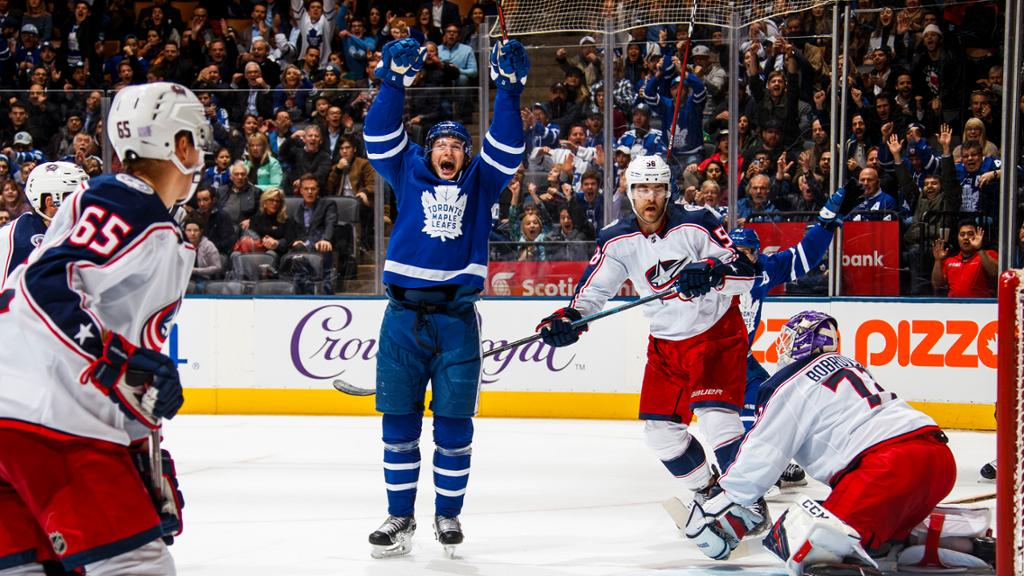 Maple Leafs Rally Past Blue Jackets Win Fourth Straight