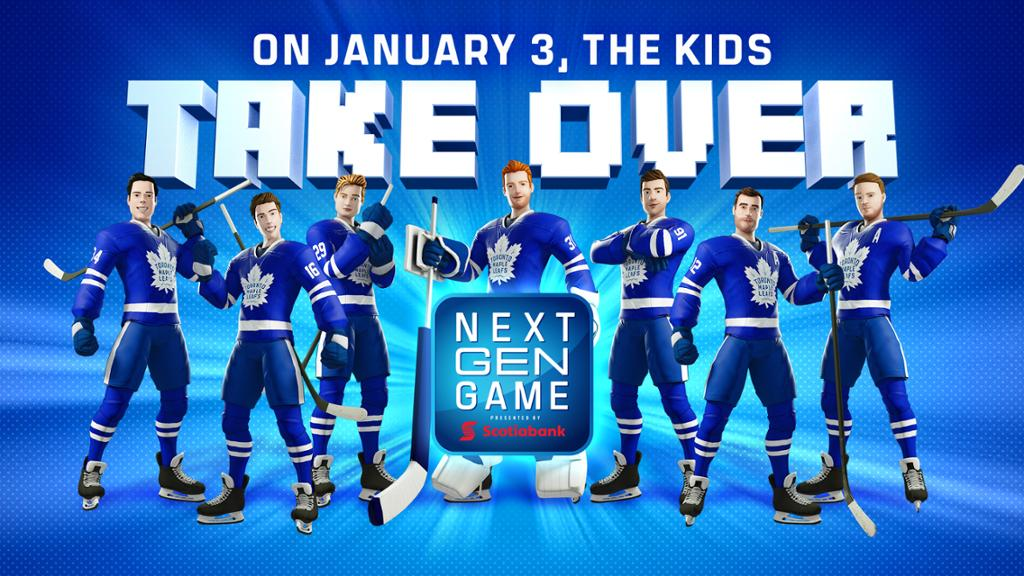 Maple Leafs Announce Plans For Next Gen Game Presented By Scotiabank