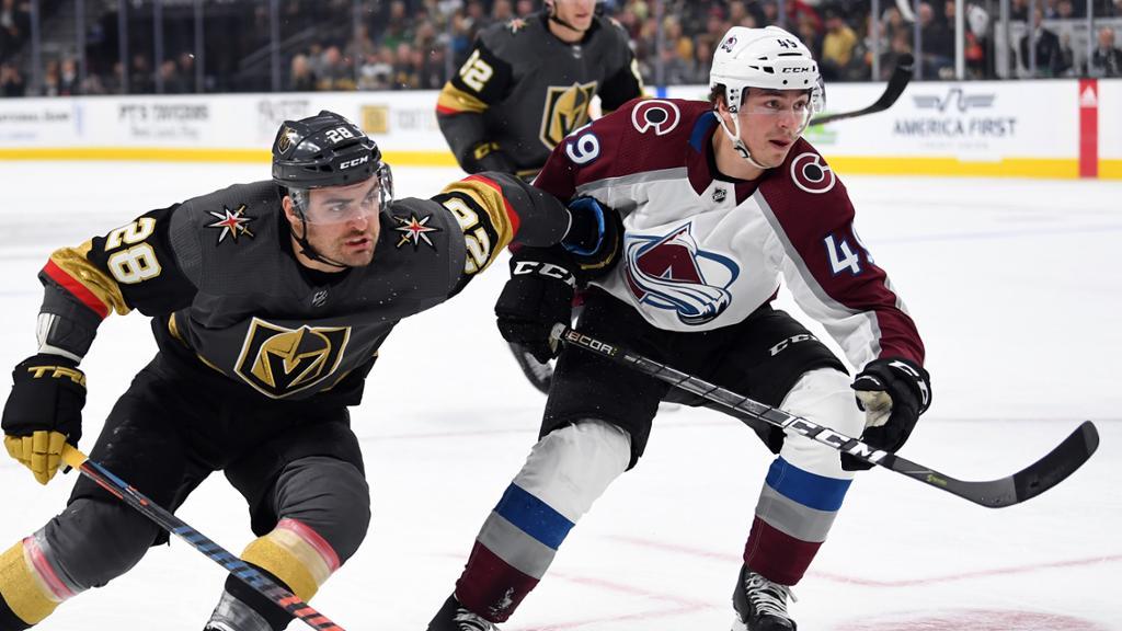 Avs Visit Golden Knights Before NHL's Holiday Break
