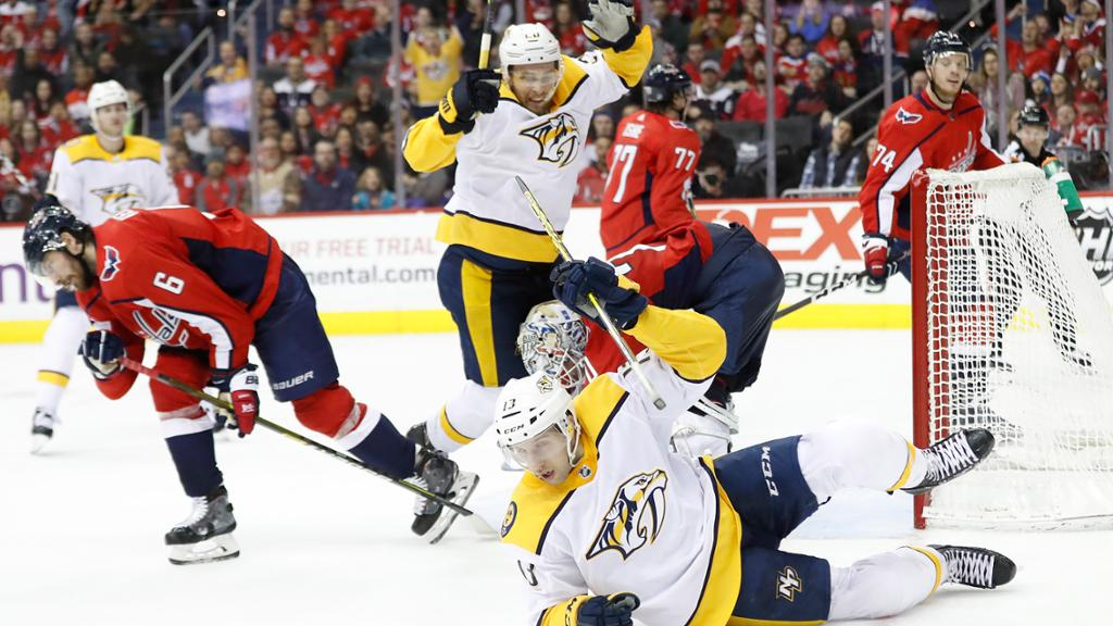 Predators End Road Losing Streak At 10 Defeat Capitals