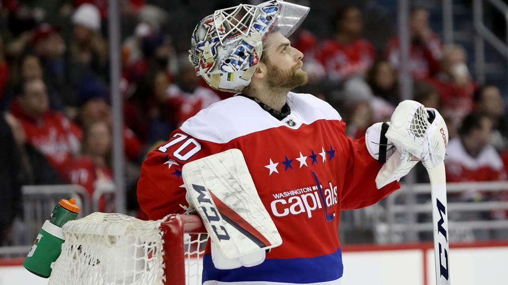 Holtby Practices With Capitals Is Available After Eye Injury