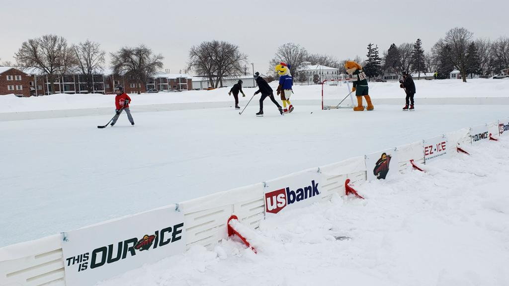 Wild U S Bank Donate New Outdoor Rink To Herb Brooks Foundation