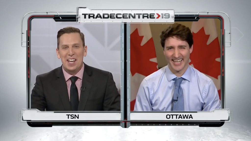 Justin Trudeau Cheers On Habs During Tsn Tradecentre