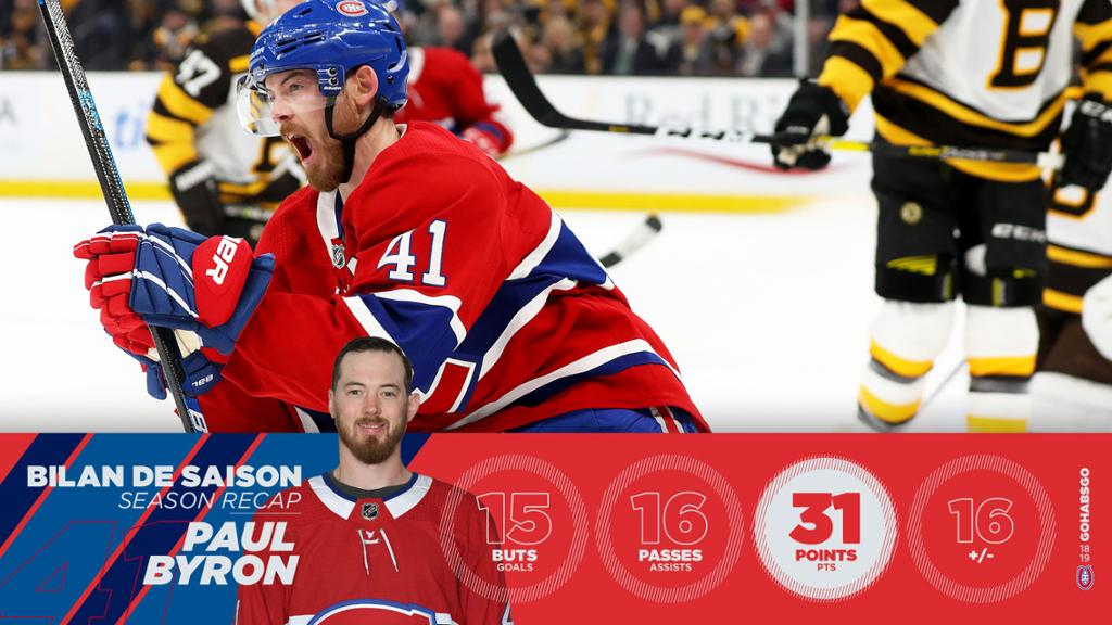 proof the Habs are better with Byron