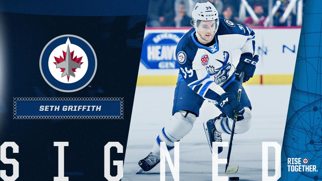 Jets Sign Seth Griffith To One Year Contract