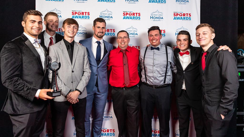 Wings Larkin Adds Free Press Sports Awards To Busy Summer Schedule