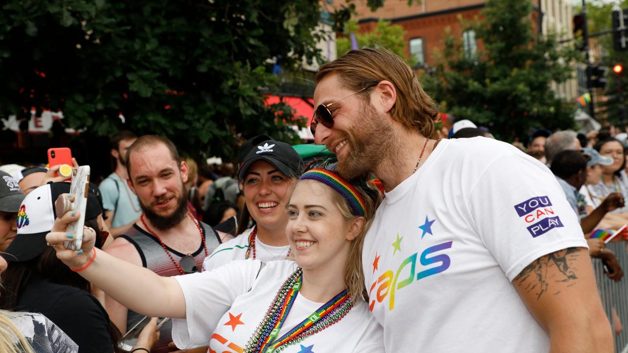 Capitals Goaltender Braden Holtby Participates In Capital Pride Parade