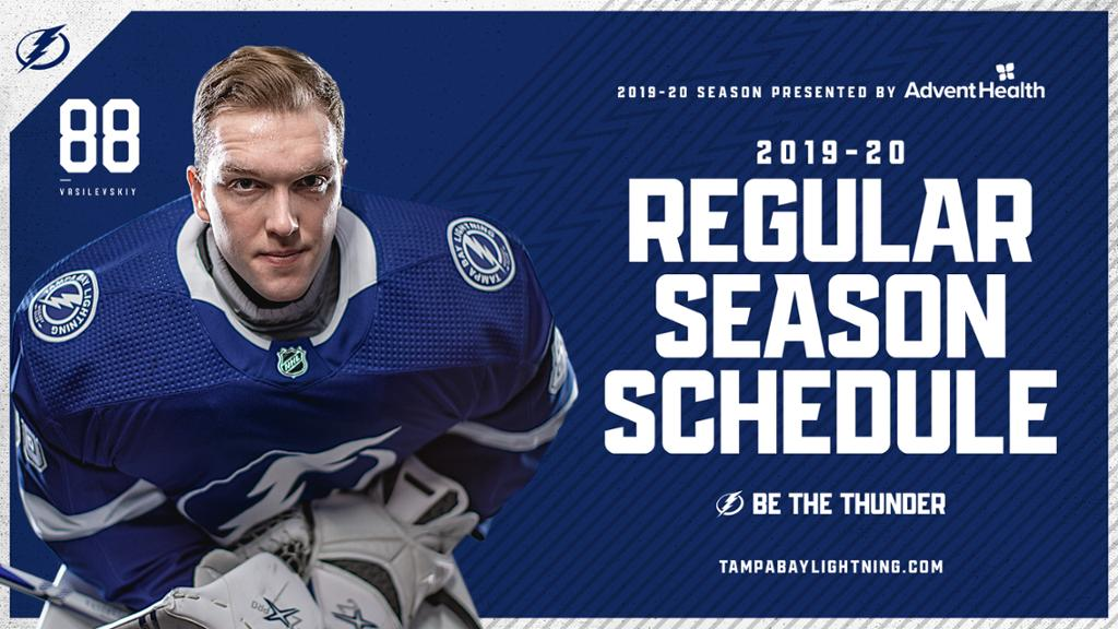 lightning announce 2019 20 schedule presented by adventhealth lightning announce 2019 20 schedule