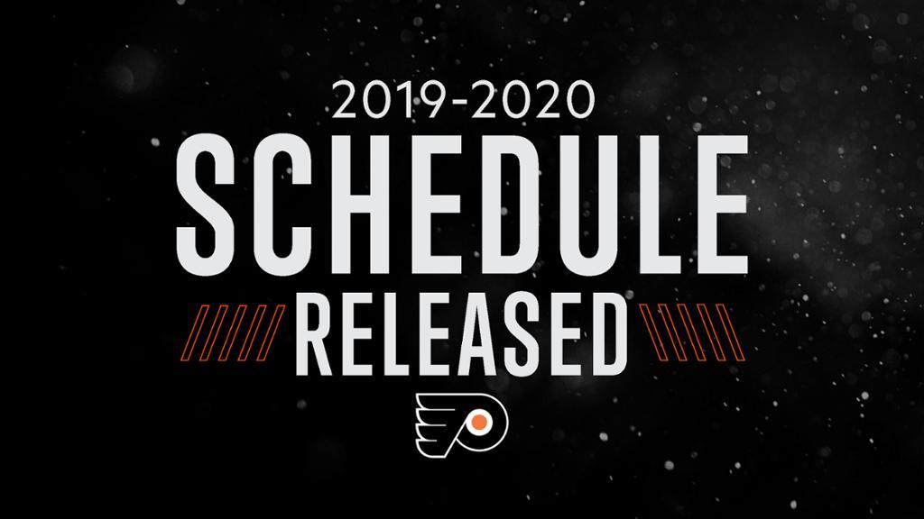 Flyers Release 2019 20 Regular Season Schedule