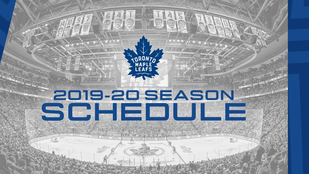 Maple Leafs Announce 2019 20 Regular Season Schedule