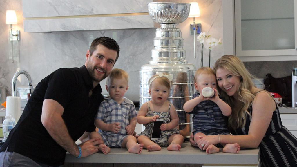 Pietrangelo Shares Stanley Cup With His Kids Eats Pasta From Trophy
