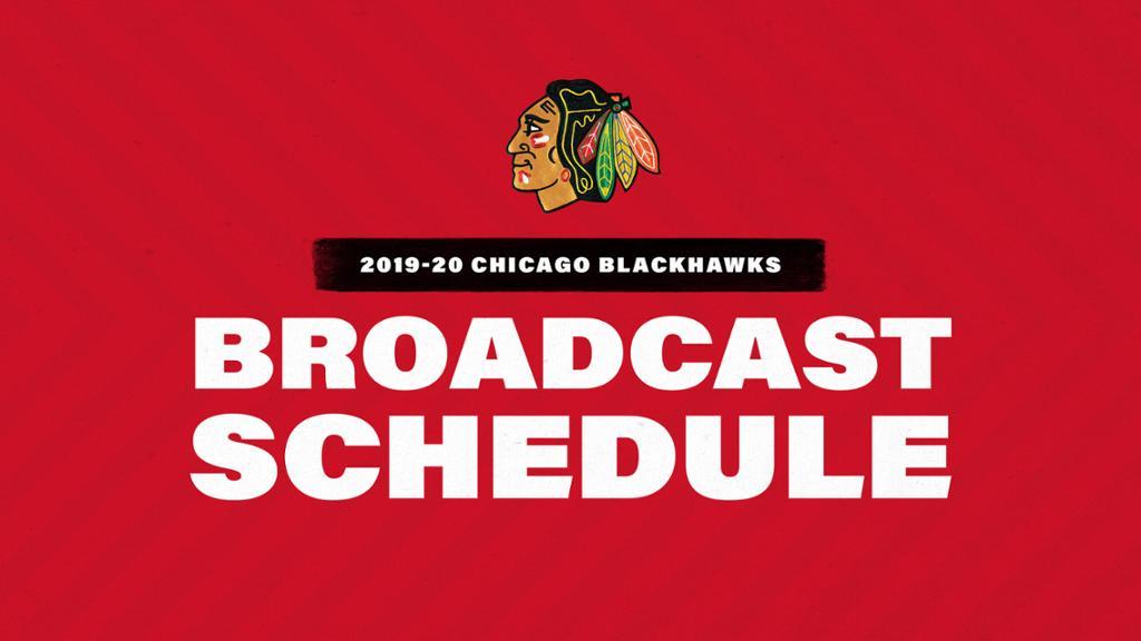 Release Blackhawks Announce 2019 20 Broadcast Schedule