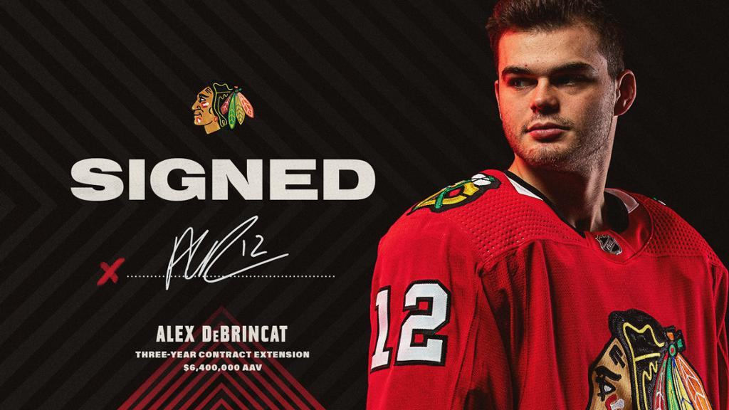 RELEASE: Blackhawks Agree to Extension with DeBrincat