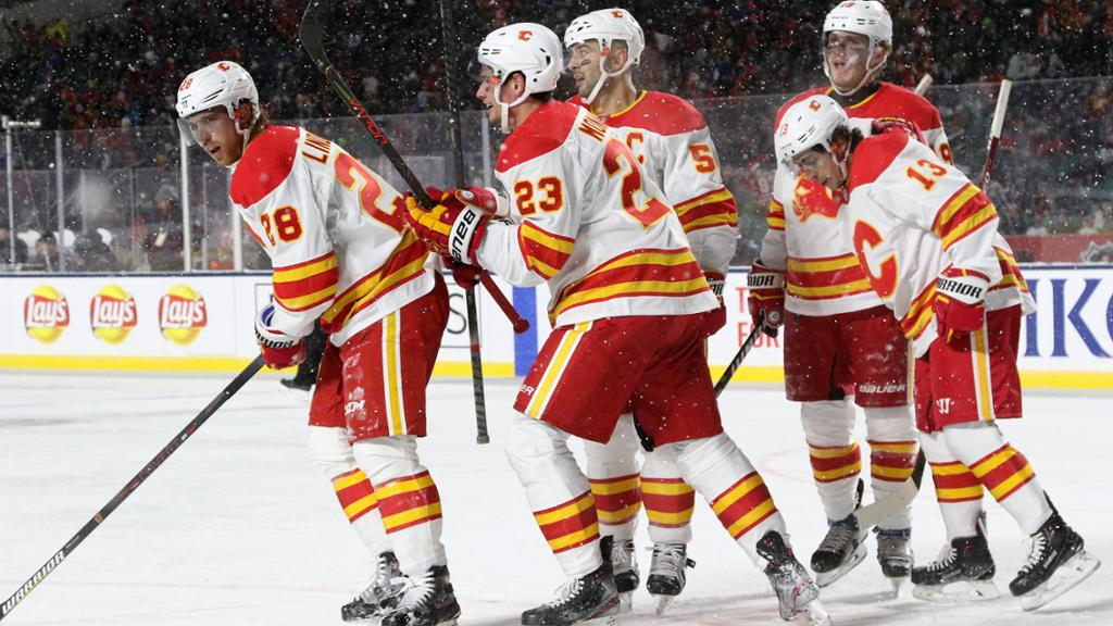 Gaudreau Flames Top Line Show Positive Signs In Heritage Classic