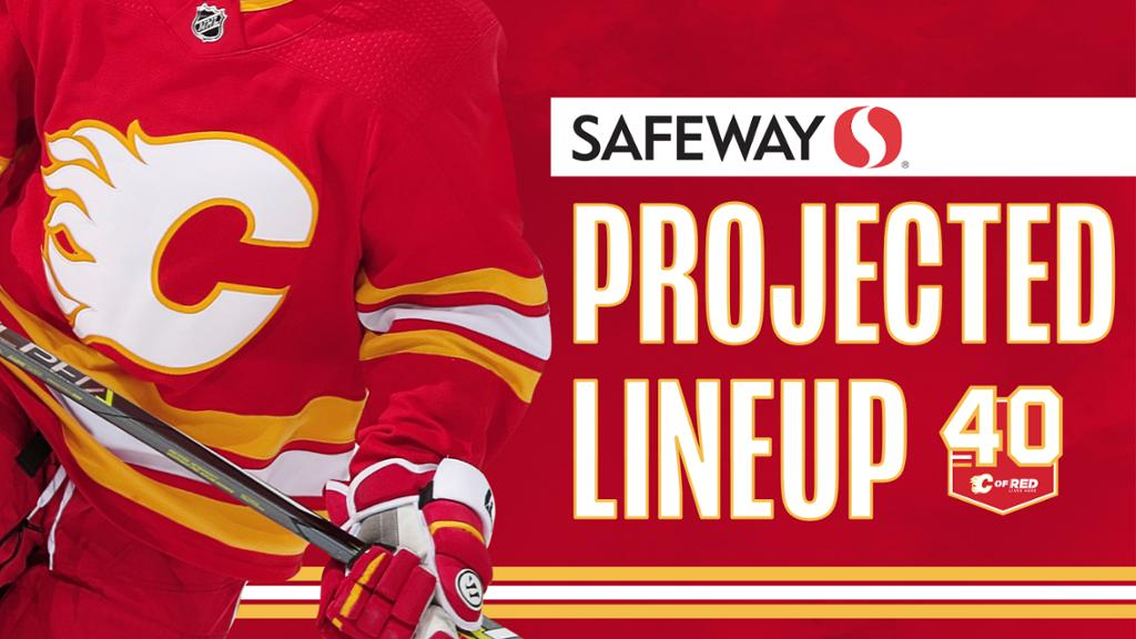 Projected Lineup Flames Vs Oilers