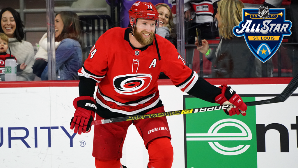 Slavin Representing Canes at 2020 NHL All-Star Weekend in St. Louis
