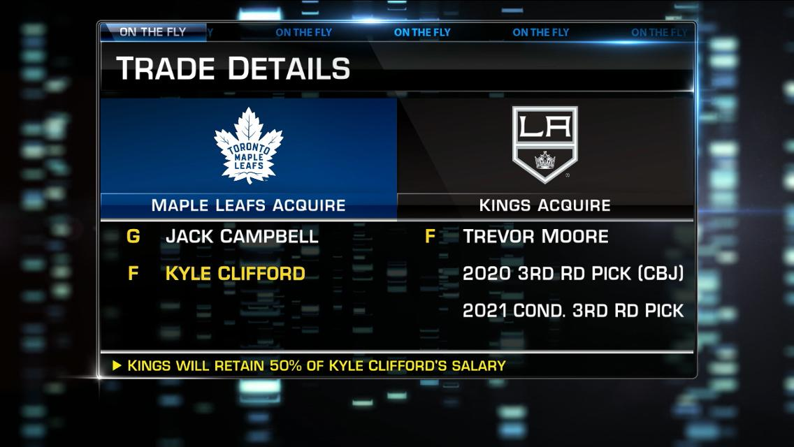 Campbell Clifford Traded To Maple Leafs By Kings