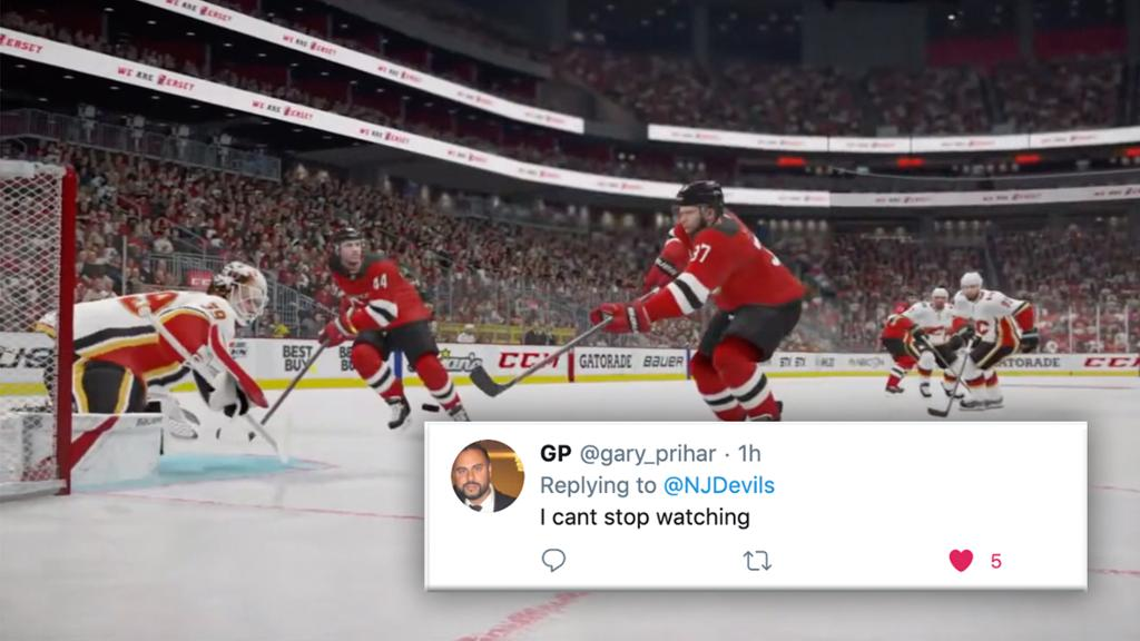 SOCIAL SPOTLIGHT: Devils Play Simulated Game for Fans