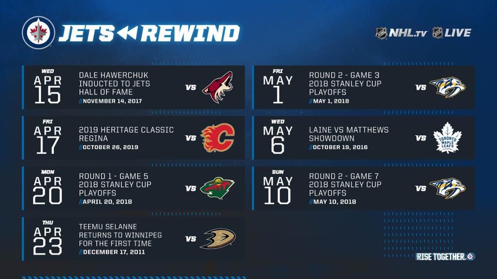 Winnipeg Jets Announce Jets Rewind Schedule