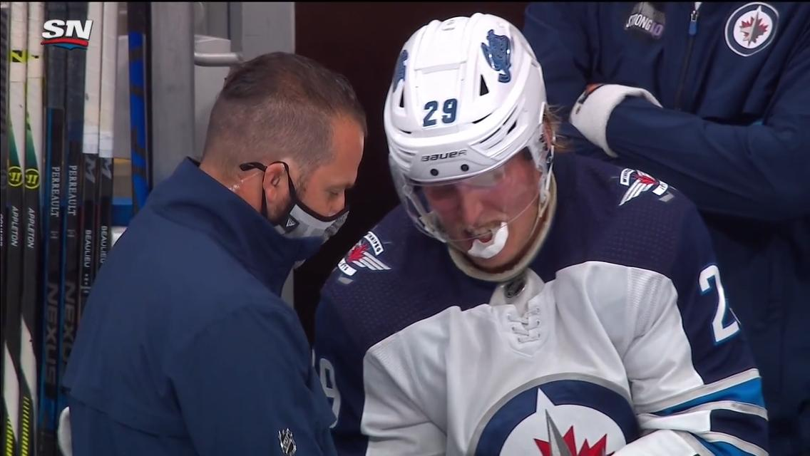 Scheifele Laine Status For Jets Unknown For Game 2 Of Cup Qualifiers