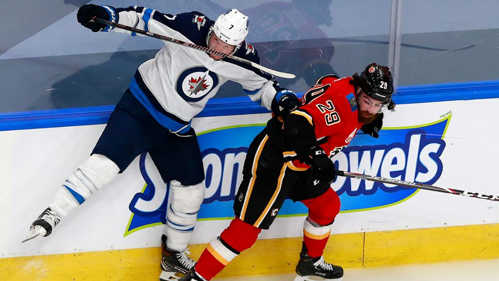 Jets Lose Scheifele And Laine To Injury Drop Game 1 To Flames