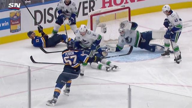 Canucks Work To Keep Puck Out Nhl Com