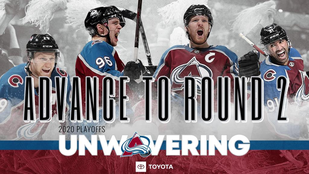 Avs Advance to Second Round of 2020 Stanley Cup Playoffs