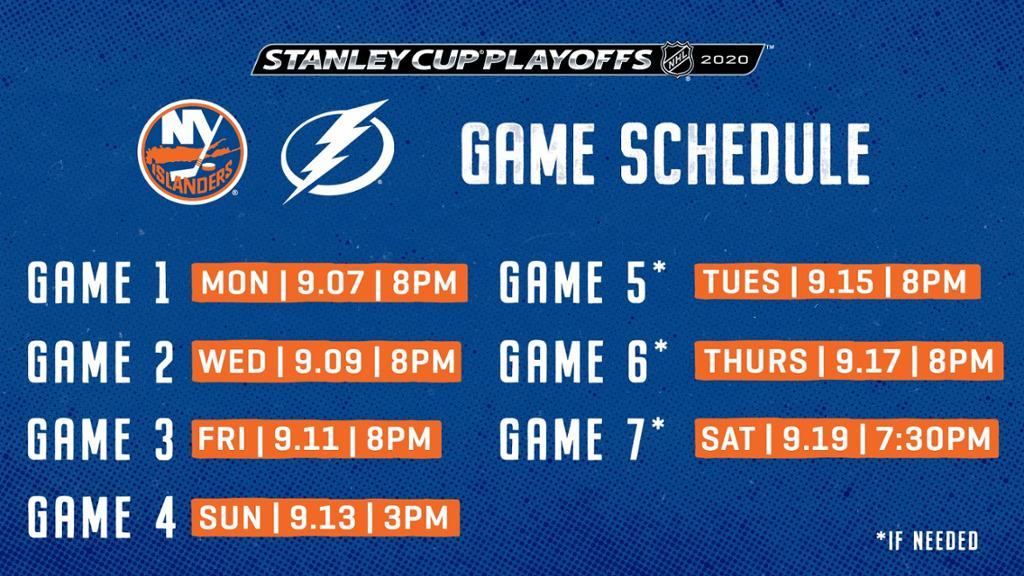 Islanders-Lightning Schedule Announced