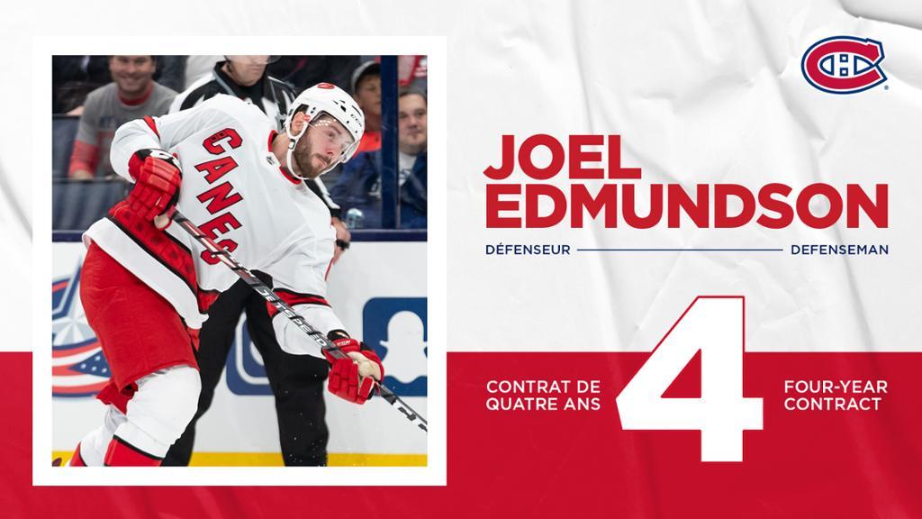 Les Canadiens acquièrent le défenseur Joel Edmundson