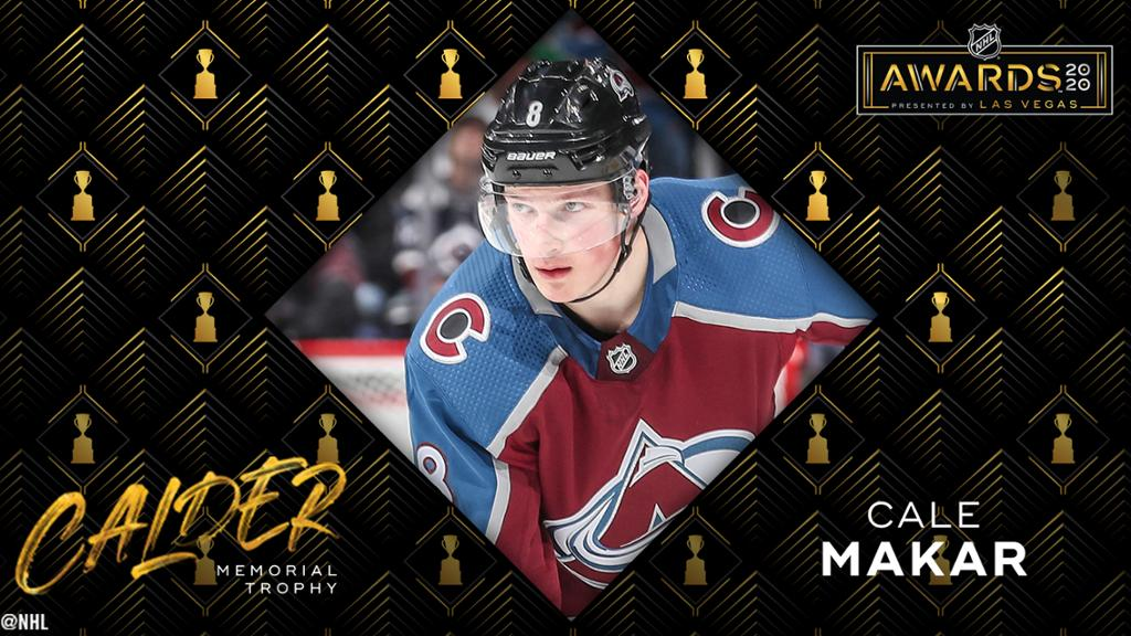 Avs' Cale Makar Named NHL's Rookie Of The Year