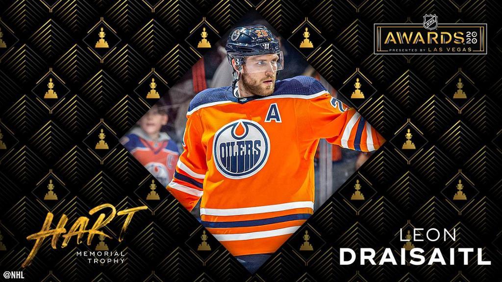 NHL Awards: Draisaitl wins MVP, Makar tops Hughes for Calder