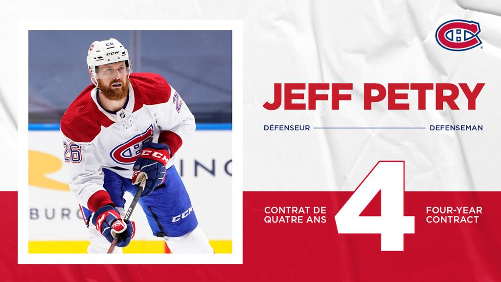 Canadiens Sign Defenseman Jeff Petry To A Four Year Contract Extension