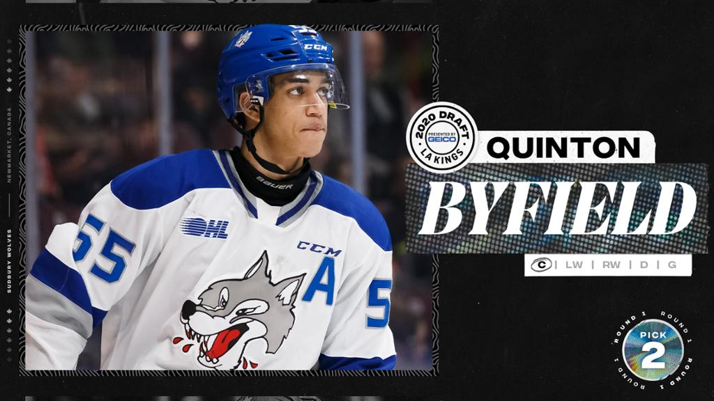 La Kings Select Quinton Byfield With The 2nd Overall Pick In 2020 Draft