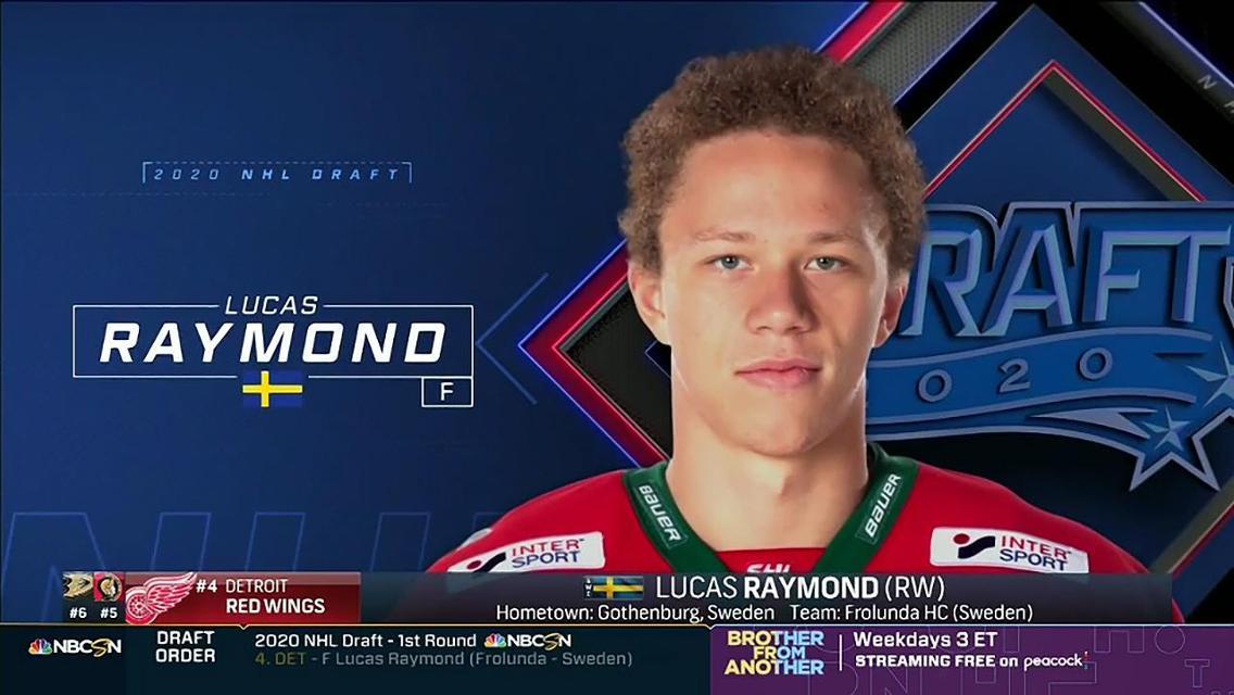 Red Wings Draft F Raymond No 4 Nhl Com
