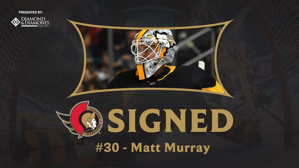New Ottawa Senators goaltender Matt Murray signs four-year deal with club