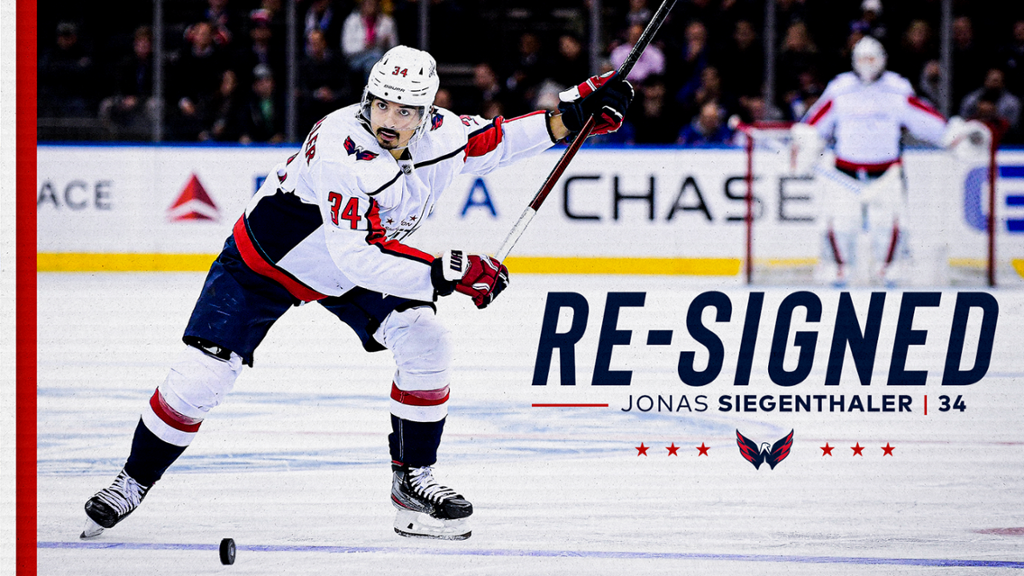 Capitals Re-sign Jonas Siegenthaler | NHL.com