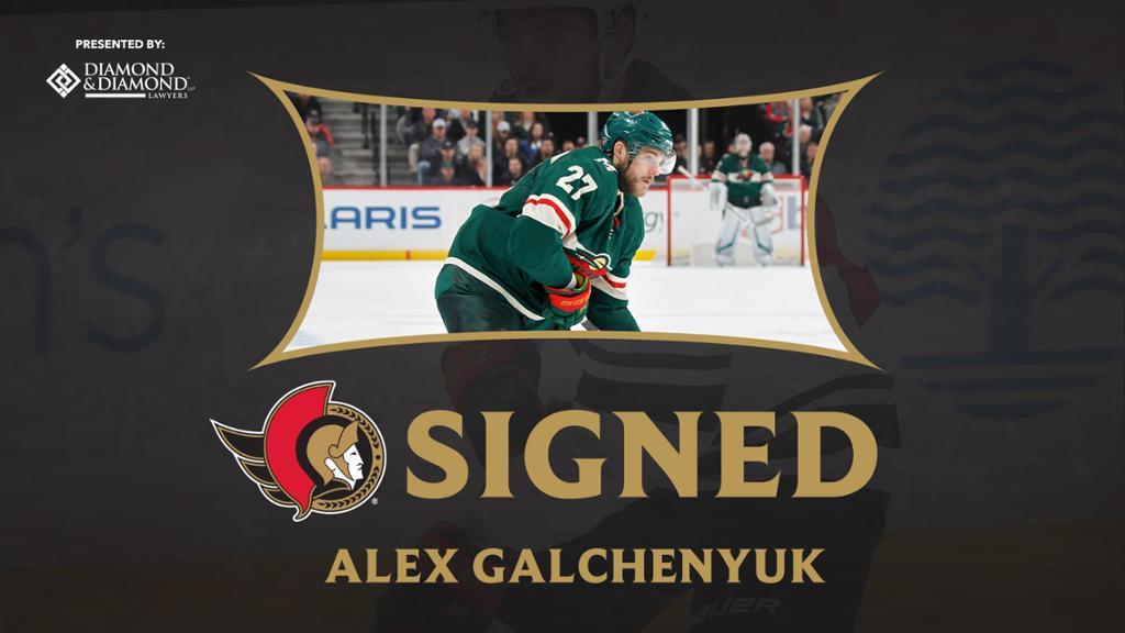 Ottawa Senators sign forward Alex Galchenyuk to a one-year contract thumbnail
