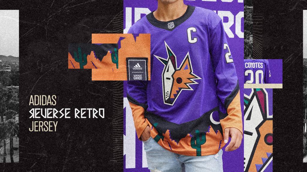 Coyotes Introduce New Purple Adidas Reverse Retro Alternate Jersey